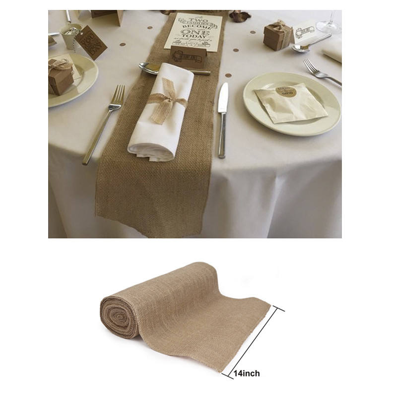 Wholesale Wedding Party Table Runner Natural Jute Burlap
