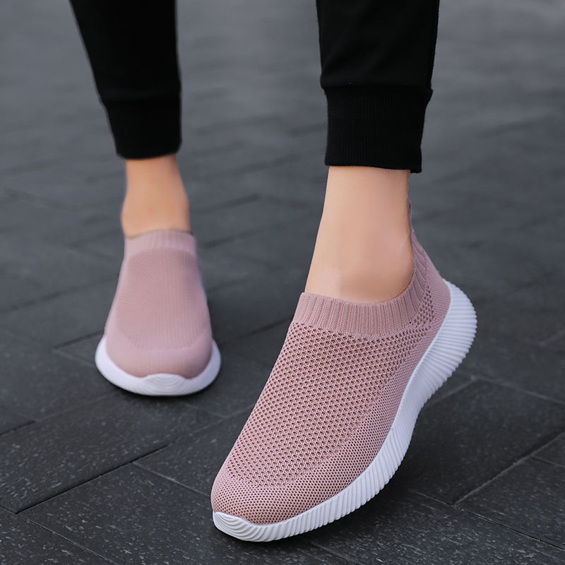 Sock shoes sneakers women Fashion Casual Soft Shoes Slip On Sneakers Plus size 43 Tenis Feminino Woman zapatillas mujer