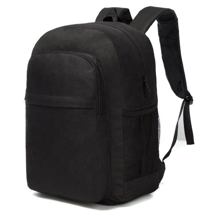 Factory supply canvas plain color school backpack