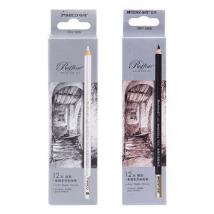 white lead Artist Non-toxic Profession Wooden Charcoal Sketching driawing Crayon Pastel Pencil