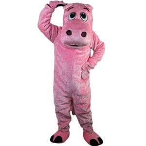 Longteng 736 Cartoon Halloween Cosplay Party Christmas Carnival Apparel Pink Hippo Mascot Costumes