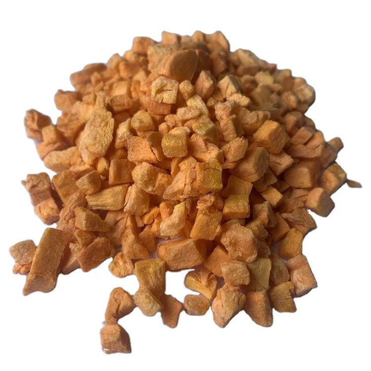 nice packing freeze dry dehydrated factory wholesale 100 healthy carrot freeze dried