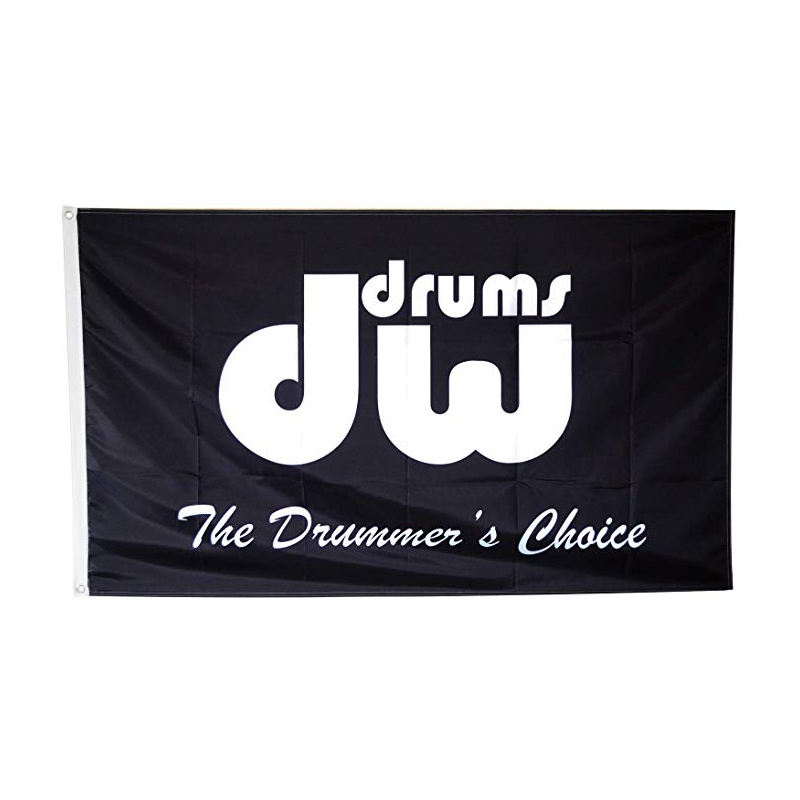 Custom DW Drums Flag 3x5ft Black Banner