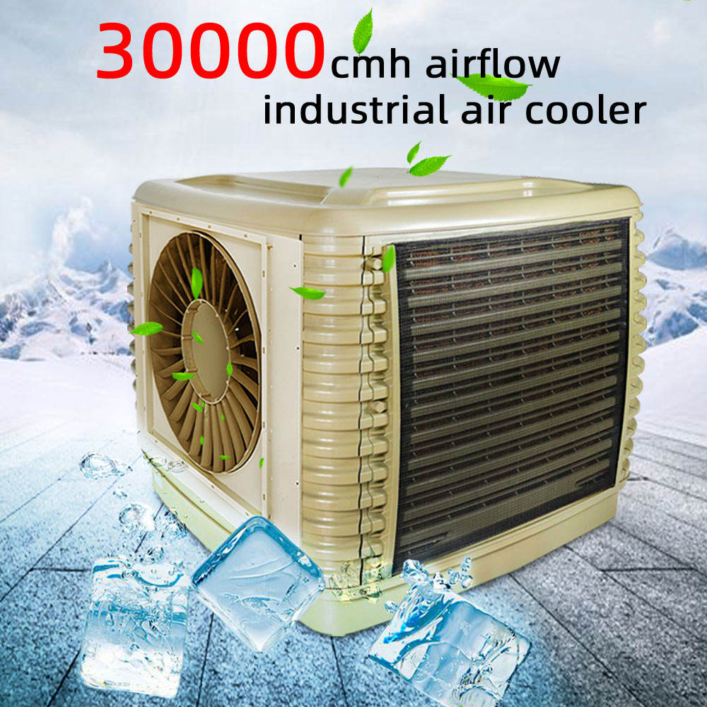 JHCOOL 30000m3/h roof mounted evaporative air cooler ventilation grilles side wind Evaporative Conditioner