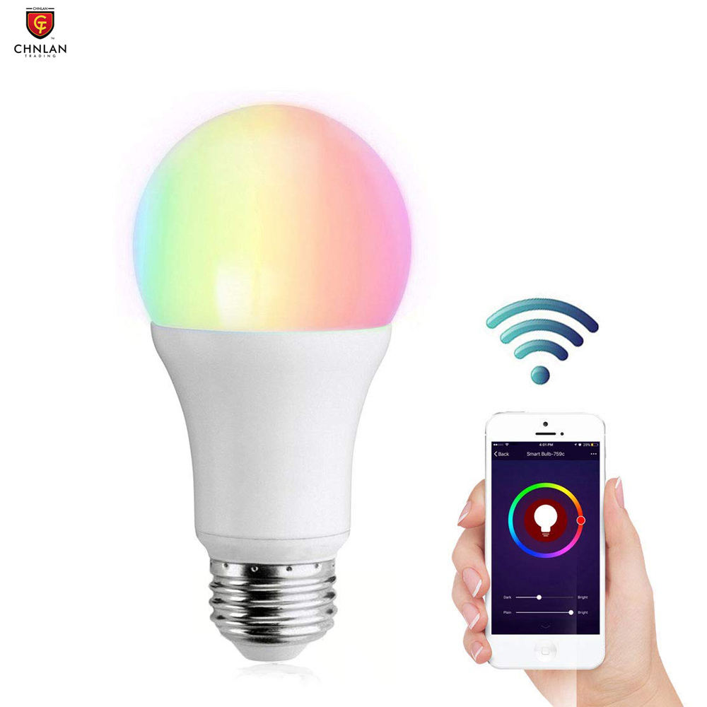 Goog Home Alexa Dimmable LED Bulb 7W B22 E27 RGB Color Smart Light Bulb WiFi