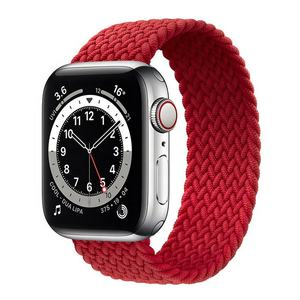 Elastic Braided Sport Woven Solo loop Replacement Wrist Nylon Watch Band Strap For Apple Watch SE S6/5/4/3/2/1