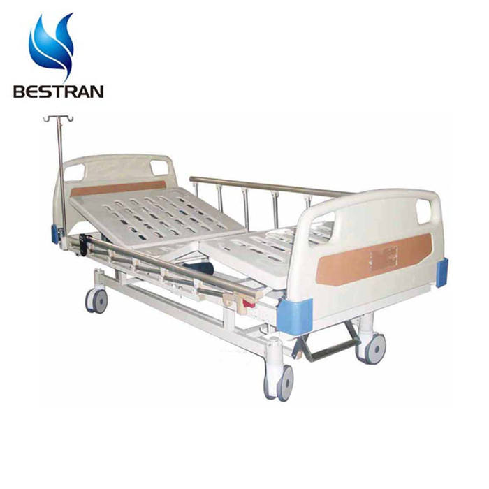 BT-AE201 CE approved 2 function Electric Automatic hospital Bed medical adjustable care bed back lift rails wheels price