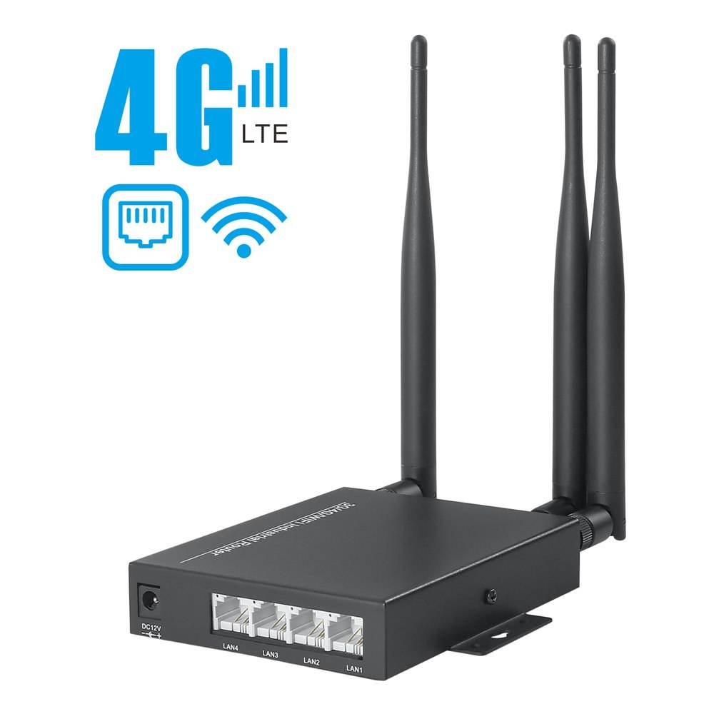 4G Router dual mode output INDUSTRIAL Super Strong signal 4g LTE sim card WIFI Wired wireless 3G 4G router modem 4 LAN RJ45 CPE