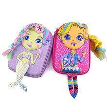 2020 New Arrival China Factory Wholesale OEM ODM PU PencilCase For Girls School Pencil Case Purple and pink EVA Pencil Bag Box