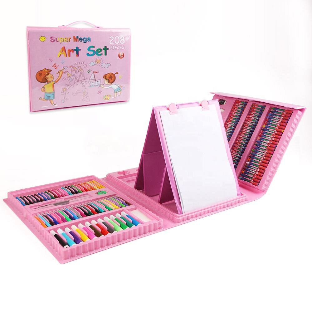 Children's Toys Art Supplies DIY 208 Pieces Painting Brush Set With Drawing Board