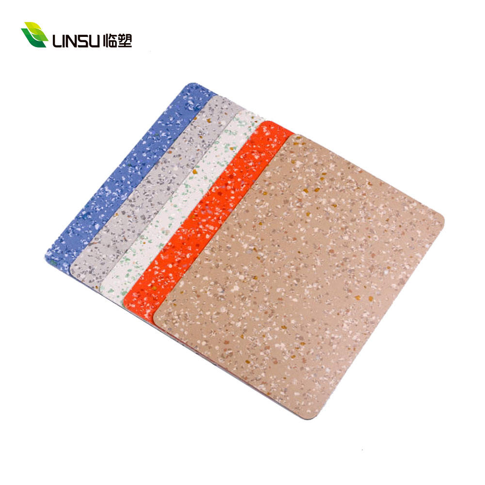 Waterproof PVC Linoleum flooring Anti Bacterial Non Directional 2mm Homogeneous Pvc Vinyl Flooring