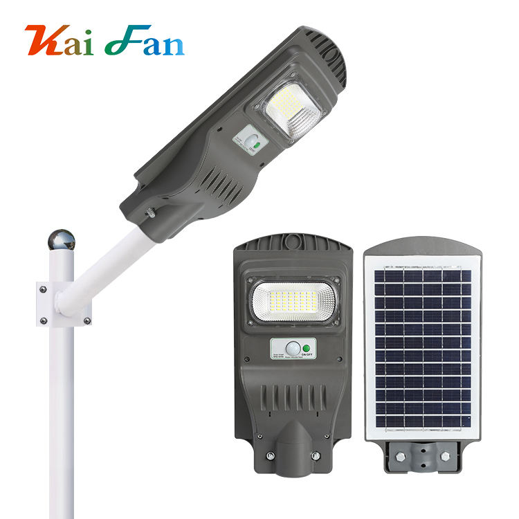 Hot selling waterproof ip65 20 40 60 Watt integrated all in one solar led streetlight