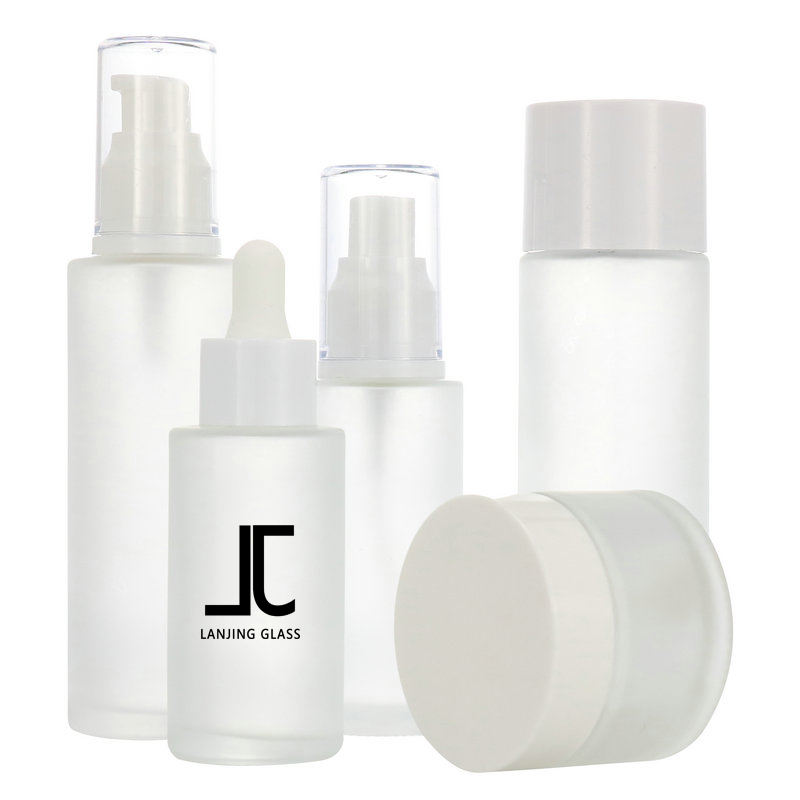 Luxury glass spray Lotion Containers 20ml 30ml 60ml 100ml 120ml Skincare Packaging Cosmetic Bottles And Jars Sets For Sale