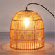 New trend Handmade Wicker Rattan hang light Bamboo Pendant Lamp for Home Indoor or hotel