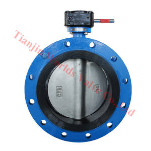 Stainless steel double flanged butterfly valve with CE & ISO certificates