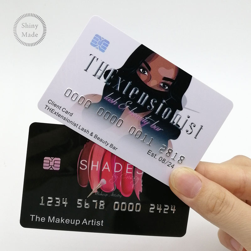 Custom Plastic Business Card Holographic Display Embossed Printing Credit Card Size PVC Cards