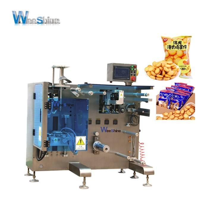 Alta <span class=keywords><strong>Configuración</strong></span> de máquina de envasado de alimentos con Japón Servo Motor de dedo/estrella/oso galletas