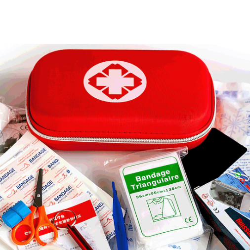 Medical Equipment Mini Tactical First Aid Kit for Driving Traveling Outdoor Home Using Red Portable First Aid Kit