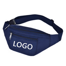 Wholesale promotion polyester sports running waterproof waist bag sling crossbody custom fanny pack