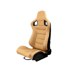 China Cockpit Simulator Auto Sport Beige Pvc Lederen Racing Seat
