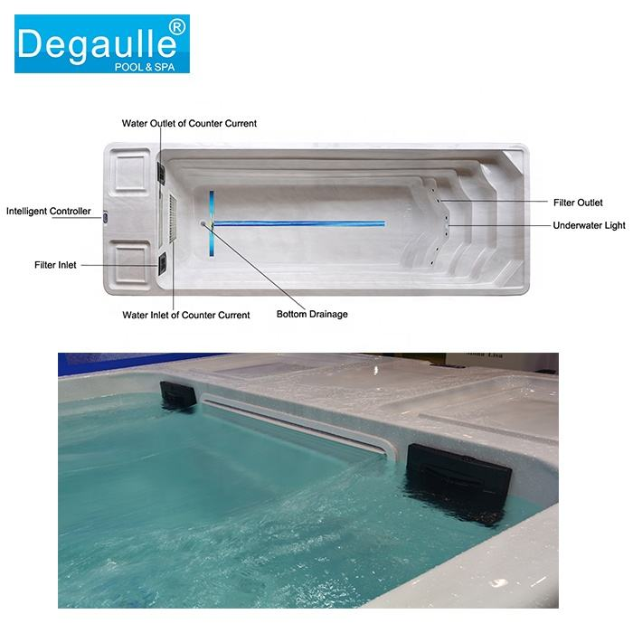 Degaulle lap outdoor swimming pool spa portable endless pool