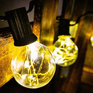 Custom light edison bulb connectable clips string light holiday G40 globe led copper wire fairy lights string