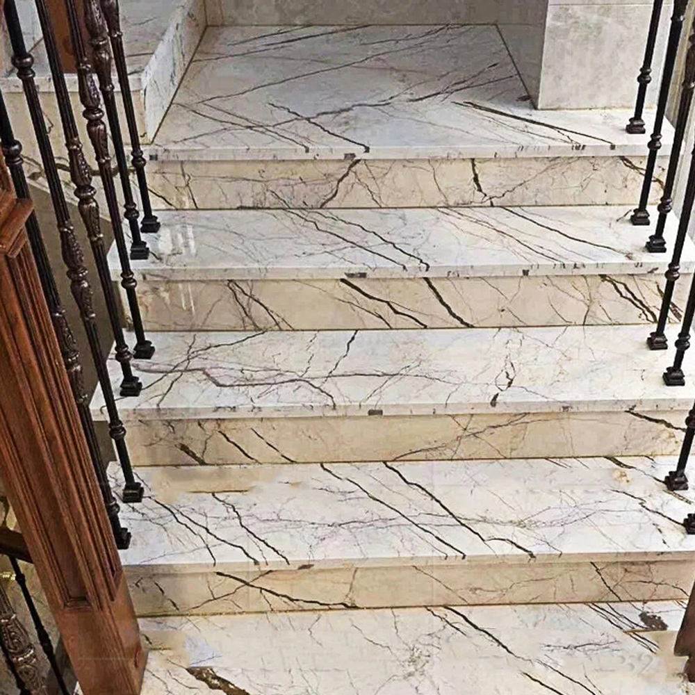 Factory price cheap marble stairs pillar for hospital