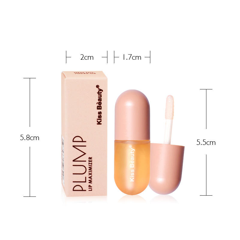 Best selling cosmetics makeup lip plumper moisturizing lip enhance plumper oil Mini Capsule lipstick