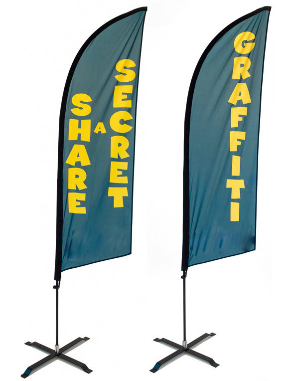 outdoor custom printing aluminum fiberglass pole marketing promotional advertising teardrop feather flying beach flags banner