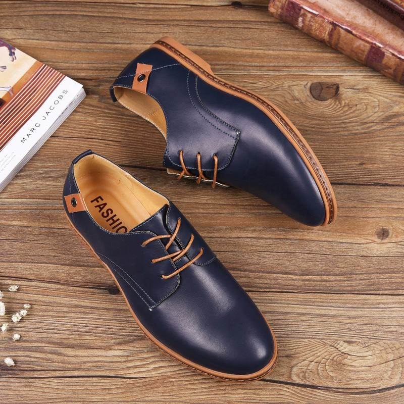 Accept custom brand breathable outdoor office genuine leather high top men's shoes soft soled shoes