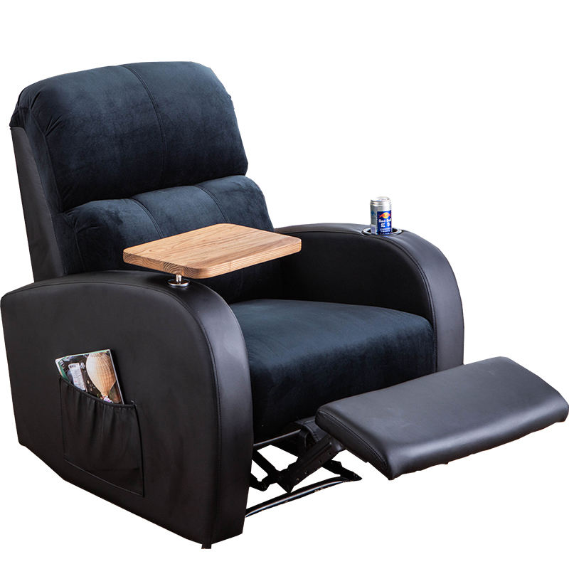 Modern European Style Reclining Electric Recling Mechanism Micro fiber Fabric Recliner Sofa With Cup Holder And Writing Board
