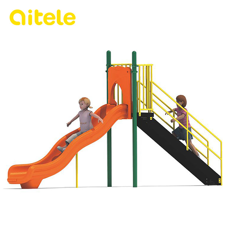 custom safety colorful outdoor plastic sliding slides toys for kids