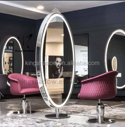Double sided styling station makeup mirror led