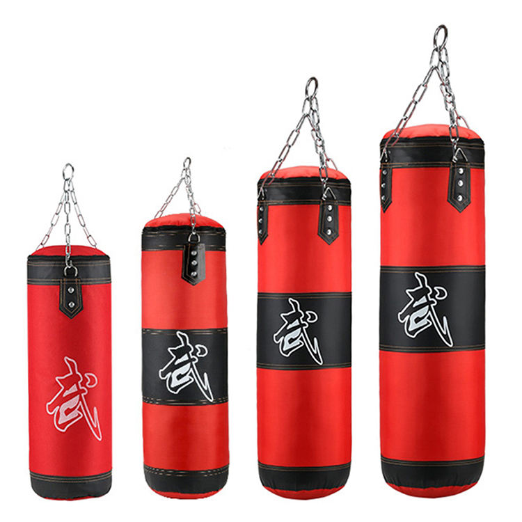Training Fitness with Hanging Kick Sandbag Adults Gym Exercise Empty-heavy Boxing Bag Boxing Man Punching Bags