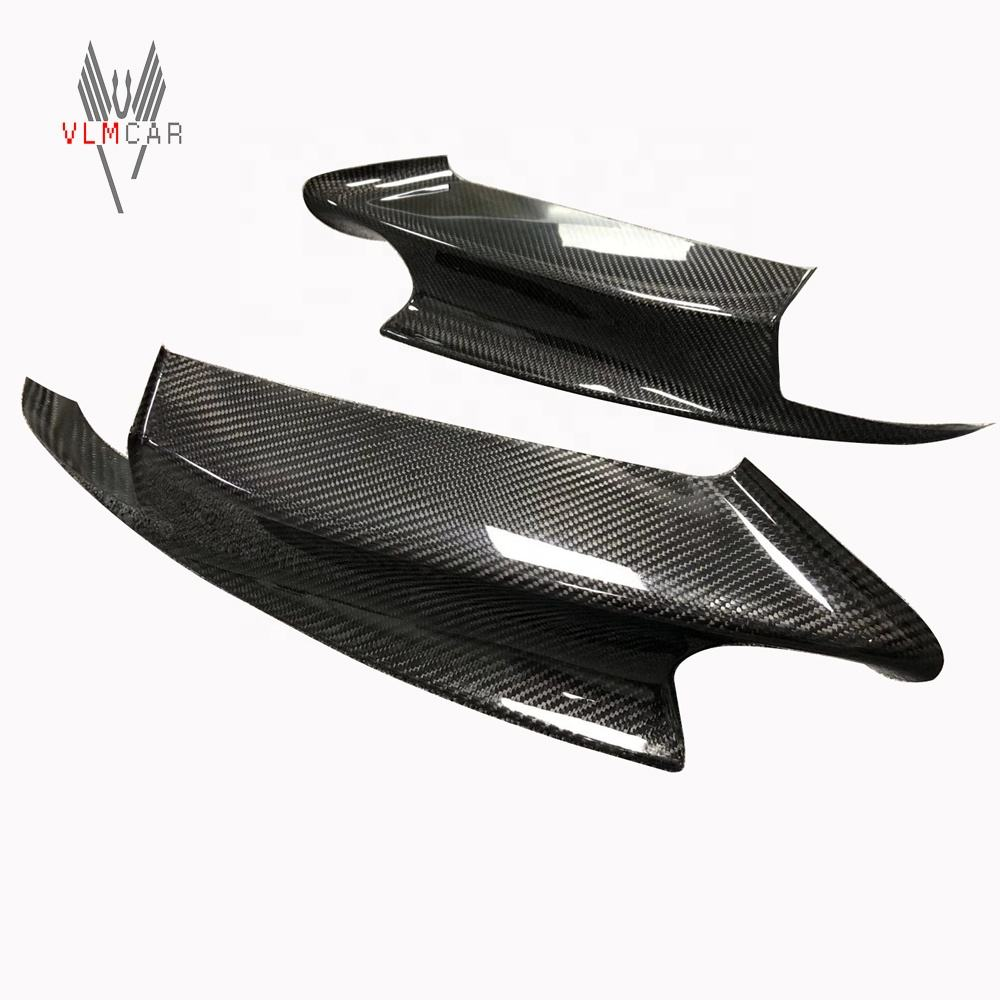 For 07-13 BMW 3 Series E90/E92/E93 M3 Carbon Fiber Front Corner Splitters Flag Lip Bumper Protector