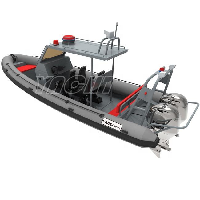 RHIB 760 High Performance Police Cruising Aluminum RIB Inflatable Boat