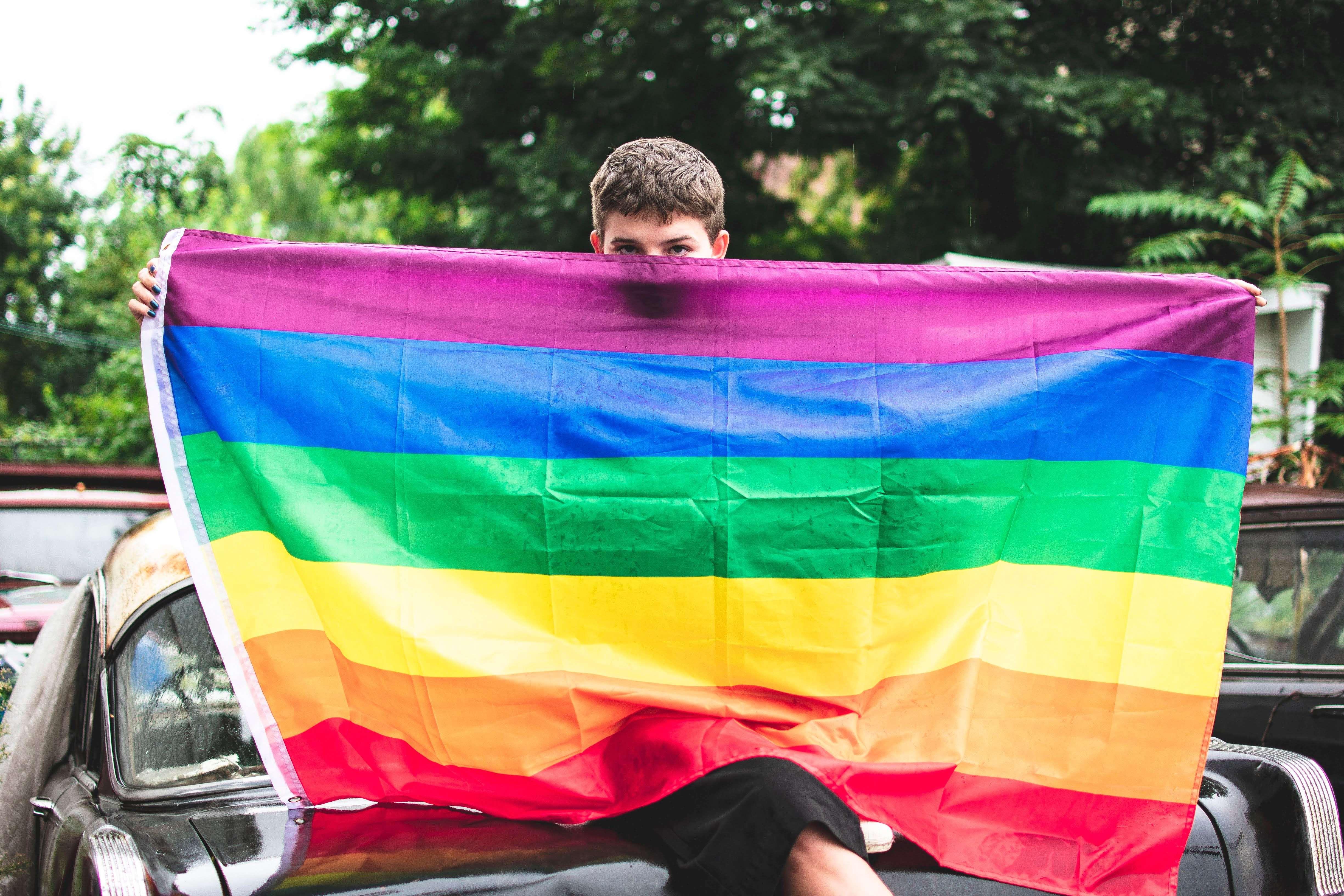 Gay rainbow sisters gay pride suspenders