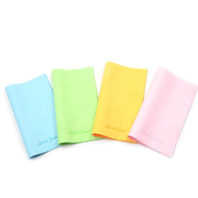 Suede Material Microfiber Embossed Printing Lens Cleaning Cloth and microfiber glasses cleaning cloth