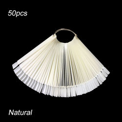 Nail tip   For Nail Art Design Training Polish Color Card Board Fan Round Heart Tree Shaped Practice Manicure Tools