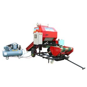 Touch panel straw corn silage packing mini round hay baler machine
