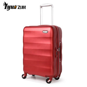 2019 Luxury Luggage Pure PC Material Spinner Wheeled Luggage Trolley Bags Suitcase Sample Provided