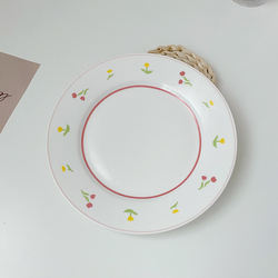 china customized plain white ceramic dessert plate decoration