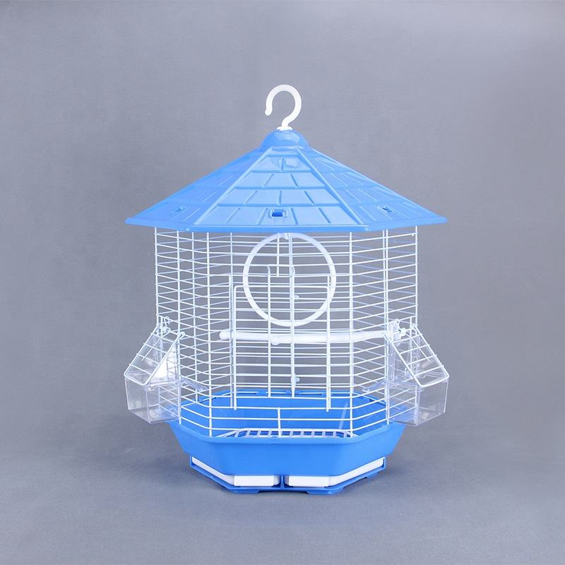 Metal birdcage hexagonal birdcages kiosk high quality material bird cage starling cockatoo cages wholesale GP2011549AP