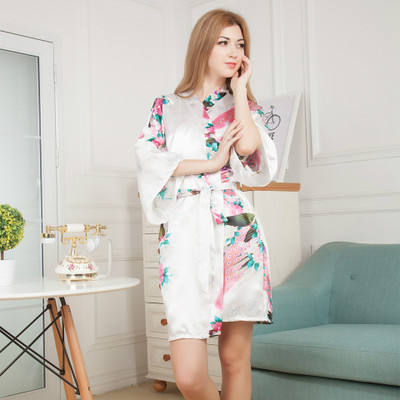 Night Gown Ladies Printed Long Sleeve Night Dress Women Sexy Sleepwear
