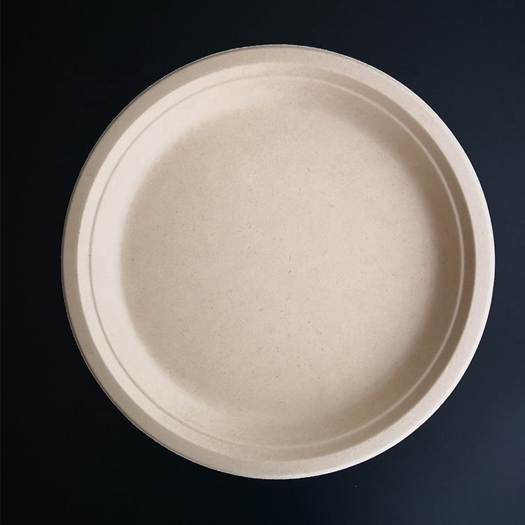 7 inch Eco-Friendly biodegradable sugarcane disposable bagasse plate