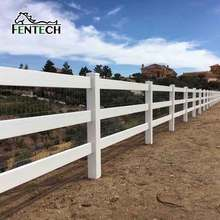 FenTECH brand 2016 Popular 3 rail pvc post and rail for sale