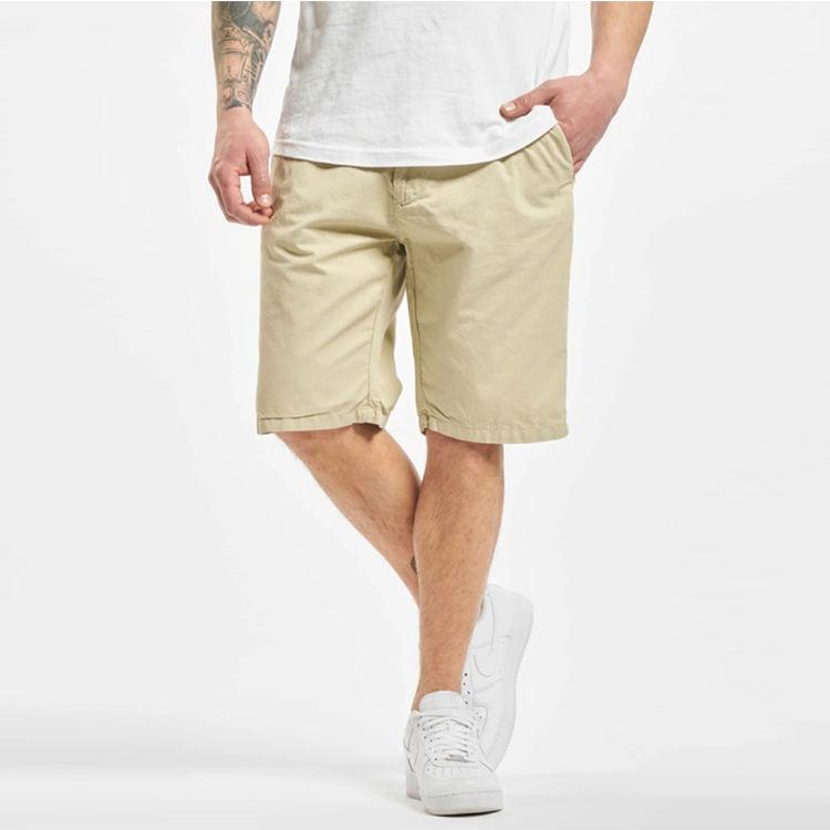 100% cotton soft twill classic mens short straight leg beige chinos