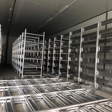 Aluminum mushroom growing shelves with lifting platform metal botton cultivation racks for flowers grow shelving