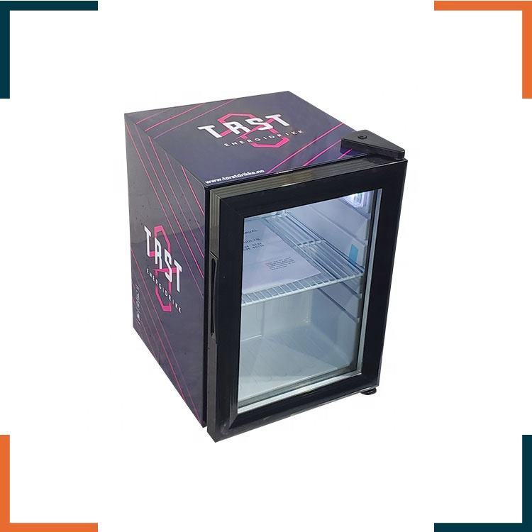 21L table top glass door beverage mini fridge refrigerator