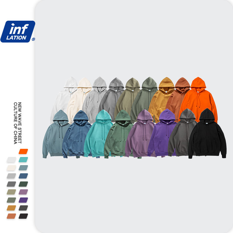 Beste Option Street Style Plus Size Rundhals ausschnitt Plus Pullover Hoodies Jacke Plain Color